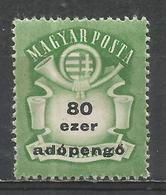 Hungary 1946. Scott #779 (M) Arms And Post Horn * - Hongrie