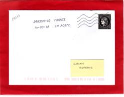 Cérès 0.20 € Non Dentelé, SEUL Sur Lettre Voyagée, Obl 14/03/19, 1er Jour 170 Ans Du Premier Timbre De France 1849/2019 - Oblitérés