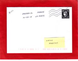 Cérès 0.88 € ND Sur Lettre, Voyagée, Obl 14/03/19, 1er Jour 170 Ans Du Premier Timbre De France 1849/2019 - Oblitérés