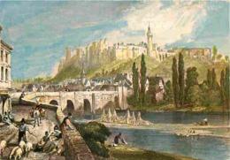 Art - Peinture - Gravure Lithographie Ancienne - Autrefois - Les Chateaux De La Loire - Chinon - Le Pont Sur La Vienne E - Peintures & Tableaux