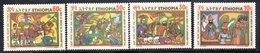 ETP164 - ETIOPIA 1971 ,  Yvert  N. 600/603 *** MNH  ADUA - Etiopia