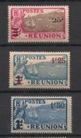 Réunion - 1924-27 - N°Yv. 103 - 104 - 105 - 3 Valeurs - Neuf Luxe ** / MNH / Postfrisch - Reunion Island (1852-1975)