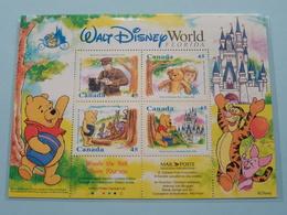 WINNIE The POOH ( CANADA ) The Walt Disney World FLORIDA > Issue WSS Number 2168 ( Zie Foto's ) ! - Blocs-feuillets