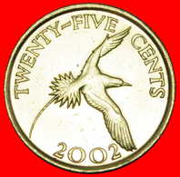 # BIRD (1999-2017): BERMUDA ★ 25 CENTS 2002 MINT LUSTER! LOW START ★ NO RESERVE! - Bermuda