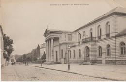 C.P.A. - BOURG LA REINE - LA MAIRIE ET L'EGLISE - PRÉCURSEUR - Bourg La Reine