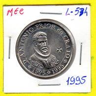 MEC 62 - / Portugal / Commémoratives 100 Escudos 1995 / D. AntonioPrior Do Crato 1595 / - L-534 - Portugal