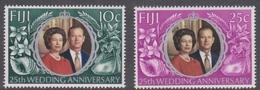 Fiji SG 474-475 1972 Royal Silver Wedding, Mint Never Hinged - Fiji (1970-...)
