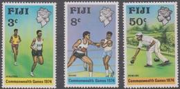 Fiji SG 489-491 1974 Commonwealth Games, Mint Never Hinged - Fiji (1970-...)