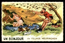 62 - HEURINGHEM - ILLUSTRATEURS - UN BONJOUR - CARTE SIGNEE JEAN CHAPERON - Autres Communes