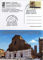 Vaticano 2018 26° Convegno Di Primavera Bologna Esposizione Filatelica Cartolina E Annullo Basilica San Petronio - Expositions Philatéliques