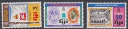 Fiji SG 502-504 1974 Deed Cession Centenary, Mint Never Hinged - Fiji (1970-...)
