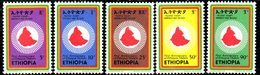 ETP193A - ETIOPIA 1975 ,  Yvert  N. 748/752 *** MNH RIVOLUZIONE - Etiopia