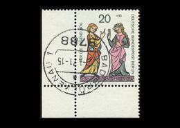 Berlin 1970, Michel-Nr. 355, Jugend 1970, Minnesänger, 20 Pf., Eckrand Unten Links, Gestempelt - Berlin (West)