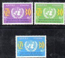 ETP193B - ETIOPIA 1975 ,  Yvert  N. 753/755 *** MNH ONU - Ethiopia