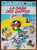 BD GASTON - 14 - La Saga Des Gaffes - Rééd. Publicitaire Total 1988 - Gaston