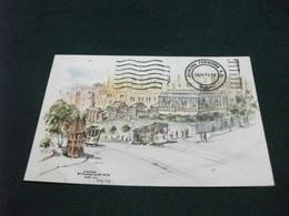 STORIA POSTALE FRANCOBOLLO U.S.A. STOUFFER STANFORD COURT HOTEL NOB HILL SAN FRANCISCO CALIFORNIA ILLUSTRATORE BETTY GUY - Alberghi & Ristoranti