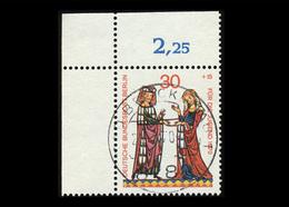 Berlin 1970, Michel-Nr. 356, Jugend 1970, Minnesänger, 30 Pf., Eckrand Oben Links, Gestempelt - Berlin (West)