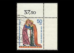 Berlin 1970, Michel-Nr. 357, Jugend 1970, Minnesänger, 50 Pf., Eckrand Rechts Oben, Gestempelt - Berlin (West)