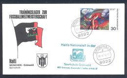 Germany 1974 Cover: Football Fussball Soccer Calcio: FIFA World Cup; Trainings Camp Haiti; München - Grünwald - Fußball-Weltmeisterschaft