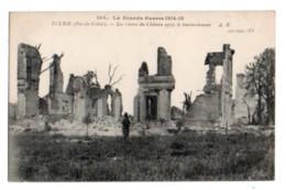 (Guerre De 1914) 144, Pas De Calais, Ecurie, AR 193, Les Ruine Du Château Après Le Bombardement - Frankrijk