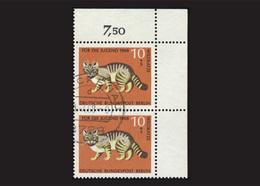 Berlin 1968, 2 X Michel-Nr. 316, Jugend 1968, 10 Pf., Eckrand Rechts Oben, Gestempelt - Gebraucht