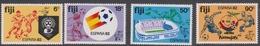 Fiji SG 636-639 1982 World Cup Football Championship, Mint Never Hinged - Fiji (1970-...)