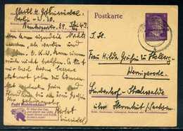 """DR.; PK 6 Rpfg. Mit Zudruck """" Kohlenklau """", 1943; An Fr. Gräfin Zu Stolberg-Wernigerode ! - Deutschland"""
