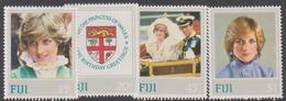 Fiji SG 640-643 1982 21st Birthday Princess Of Wales, Mint Never Hinged - Fiji (1970-...)