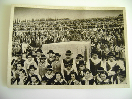 ASSOCIAZIONE NAZIONALE DEL FANTE - PELLEGRINAGGIO A REDIPUGLIA 1951   CORO TOR  VISCOSA POSTCARD UNUSED IMMAGINE OPACA - Monumenti Ai Caduti