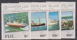 Fiji SG 675-678 1984 250th Anniversary Of Lloyds List, Mint Never Hinged - Fiji (1970-...)