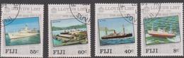 Fiji SG 675-678 1984 250th Anniversary Of Lloyds List, Used - Fiji (1970-...)