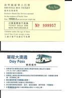 2 Tickets. Bus Hong Kong. Voir Description - Bus