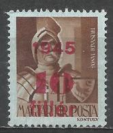 Hungary 1945. Scott #657 (M) Jànos Hunyadi * - Hongrie