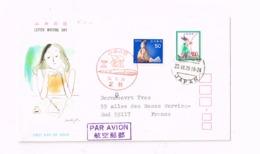Semaine De La Lettre écrite.Expédié De Ashikaga à Wervik-Sud (Nord/France) - 1926-89 Empereur Hirohito (Ere Showa)