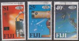 Fiji SG 738-740 1986 Halley's Comet, Used - Fiji (1970-...)