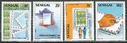 SENEGAL, 1989 PhilexFrance'89 4v MNH - Senegal (1960-...)