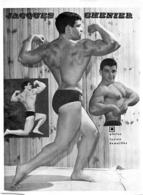 PHOTO  HOMME EN MAILLOT DE BAIN CULTURISME CULTURISTE JACQUES CHENIER PHOTO DEMEILLES 29.50 X 22 CM - Sports