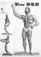 PHOTO   HOMME EN MAILLOT DE BAIN CULTURISME CULTURISTE YVON BON PHOTO DEMEILLES 28.50 X 21 CM - Sports