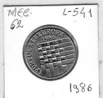 MEC 62 - / Portugal / Commémoratives 25 Escudos 1986 / Portugal Europa / - L-541 - Portugal