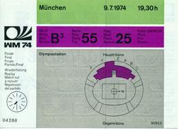 MÜNCHEN - Fussball Weltmeisterschaft  - 9.7.1974 , Eintrittskarte Für Das Finale  Deutschland-Holland - Eintrittskarten