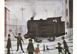 L S Lowry The Level Crossing Postcard Unused Good Condition - Malerei & Gemälde