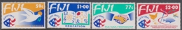 Fiji SG 866-869 1993 25th Anniversary Peace Corps In Fiji, Mint Never Hinged - Fiji (1970-...)
