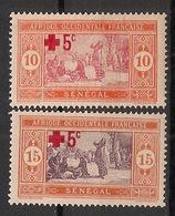Sénégal - 1915 - N°Yv. 70 à 71 - Paire Croix Rouge - Neuf Luxe ** / MNH / Postfrisch - Ungebraucht
