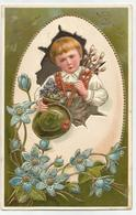 Pasen Paques 1908 Mechelen Embossed Reliëf - Pâques