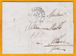 1838 - Lettre Pliée Avec Correspondance En Grec De Marseille, France Vers Athènes, Grèce - Αθήνα, Ελλάδα - 2 Cad Arrivée - 1801-1848: Precursors XIX