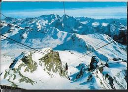 DOLOMITI - PASSO PORDOI - PANORAMA - VIAGGIATA FRANCOBOLLO ASPORTATO - Alpinisme