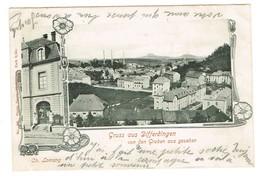Gruss Aus Differdingen. (Differdange) Von Den Gruben Aus Gesehen. édit Ch Lorrang,1905. Tb état. - Differdange