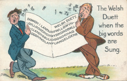 PC60094 The Welsh Duett When The Big Words Are Sung. Valentine. 1912 - Cartes Postales