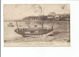 FOURAS - La Plage Sud Et Les Chalets   - Animé + Bateau - Fouras-les-Bains