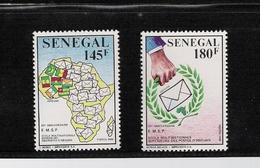 SENEGAL, 1990 Multinationa Postal Schoo, 20th Anniversaryl  2v MNH - Senegal (1960-...)